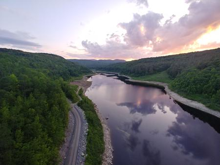 aerial view of river valleyriver valley