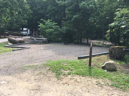 A photo of Site 022 of Loop MILL RUN RECREATION AREA at MILL RUN RECREATION AREA with Boat Ramp, Picnic Table, Fire Pit, Shade