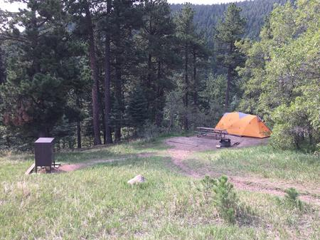 A sample picture of a tent campsite at La Vista campground