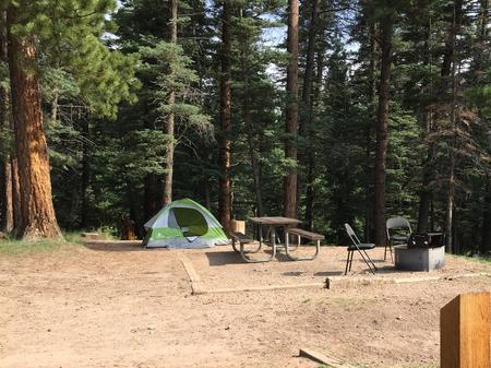 A sample picture of a tent campsite at La Vista campground