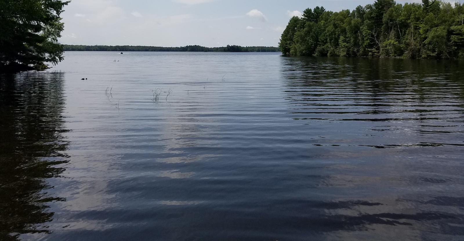 Moose Lake Boat Landing View