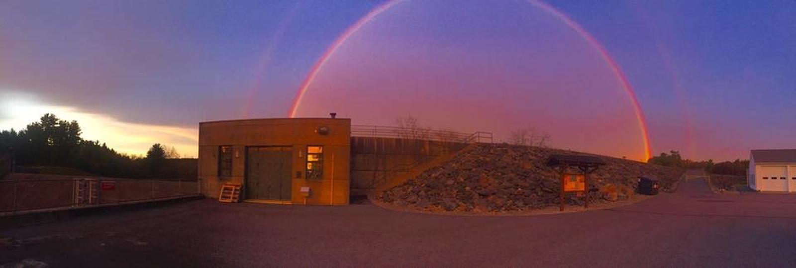 Calm after a stormControl tower at Buffumville Dam