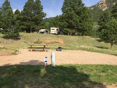 A sample photo of a RV campsite at La Vista Campground