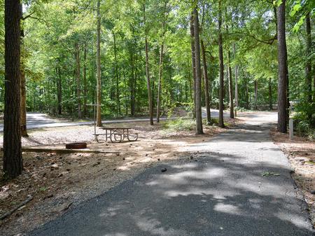 Driveway slopeMcKinney Campground, campsite #4
