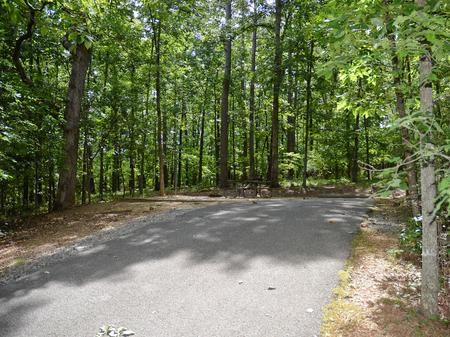 Driveway slopeMcKinney Campground, campsite #5