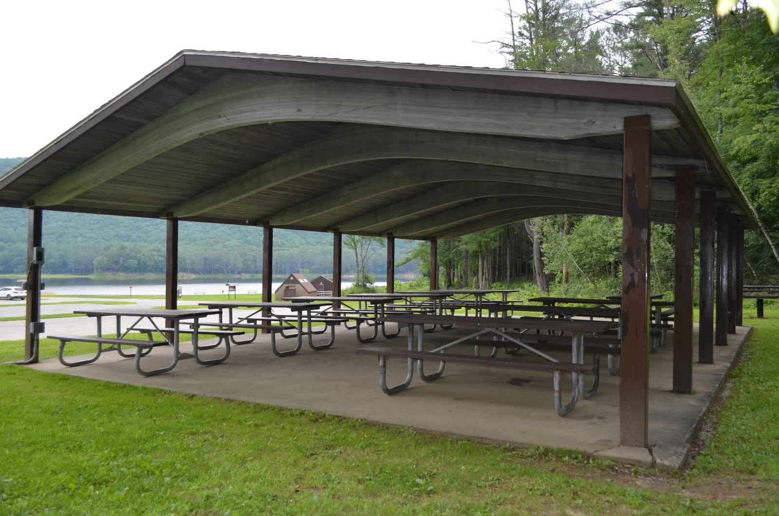 Maple Shelter at Surry Mountain Lake Beach