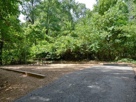 Campsite view..McKinney Campground, campsite #18