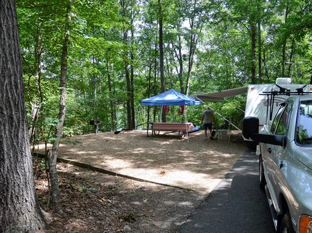Campsite view.McKinney Campground, campsite #24