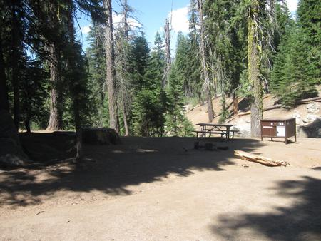 Site 63, Walk-In Site, Partial Shade, Near Creek, Meadow, and Restrooms