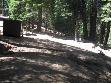 Site 64, Walk-In Site, Partial Shade, Near Creek, Meadow, and Restrooms