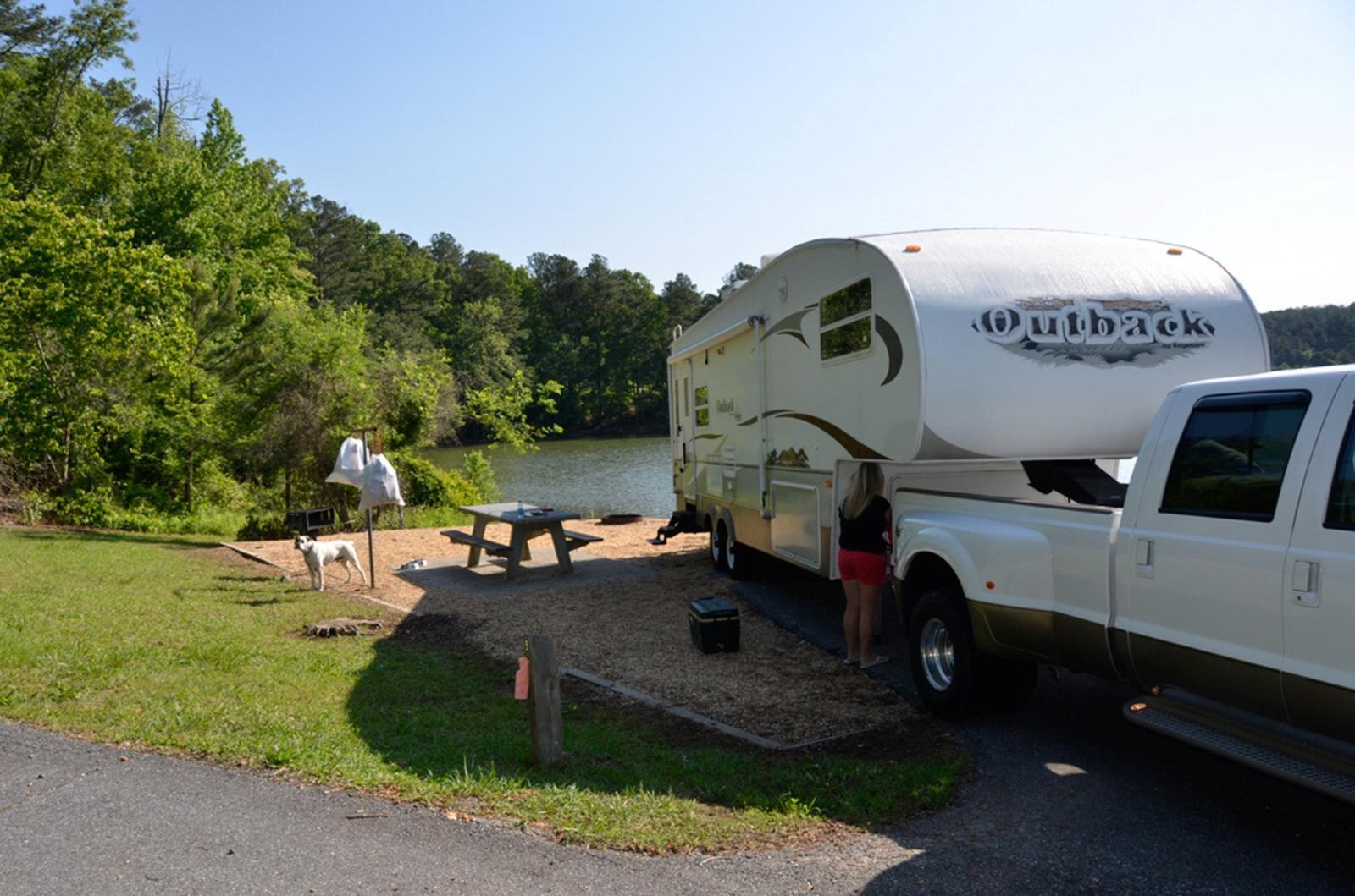 Campsite view.Payne Campground, campsite 005.