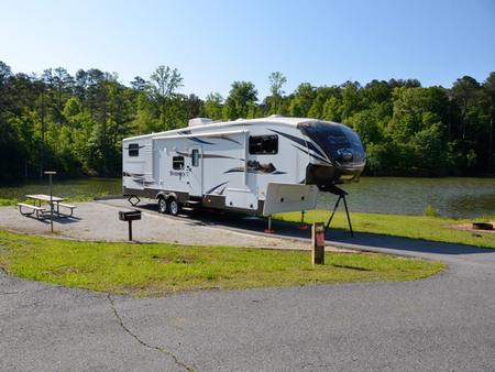 Campsite view.Payne Campground, campsite #10
