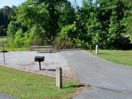 Driveway slopePayne Campground, campsite #12