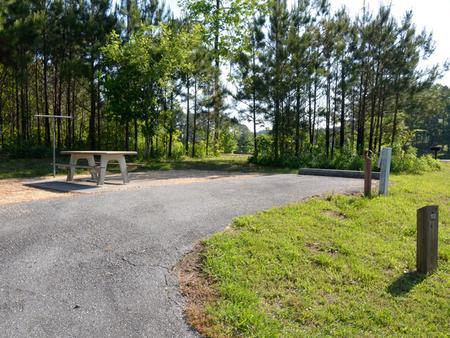 Driveway slopePayne Campground, campsite #13