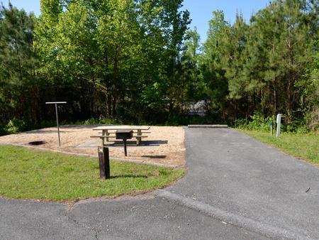 Driveway slopePayne Campground, campsite #14