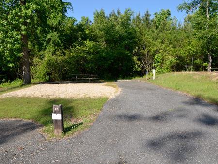 Driveway slopePayne Campground, campsite #17