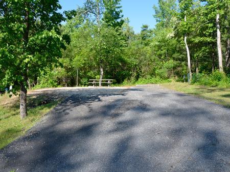 Driveway slopePayne Campground, campsite #18