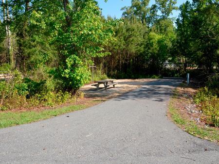 Driveway slopePayne Campground, campsite #22