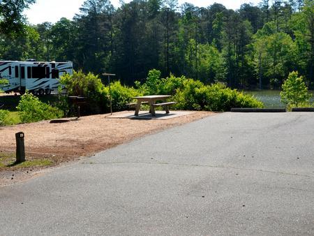 Driveway slopePayne Campground, campsite #23