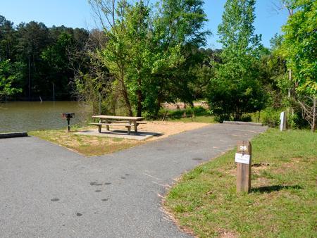 Driveway slopePayne Campground, campsite #26