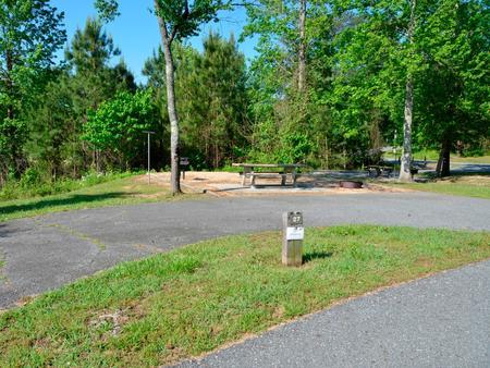 Driveway slopePayne Campground, campsite #27