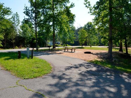 Driveway slopePayne Campground, campsite #28