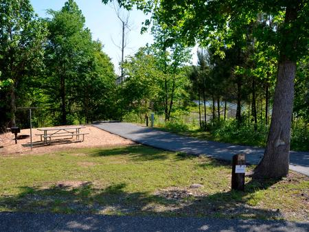 Driveway slopePayne Campground, campsite #31