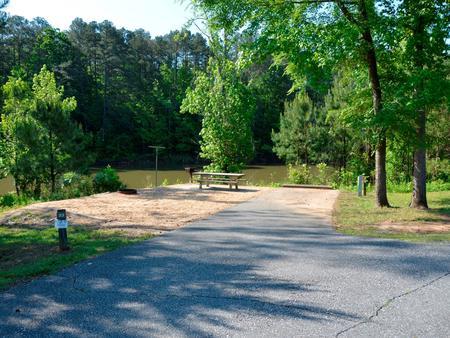 Driveway slopePayne Campground, campsite #33