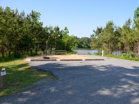 Driveway slopePayne Campground, campsite #34