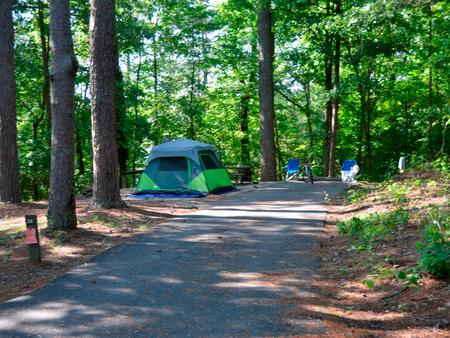 Driveway slopePayne Campground, campsite #38