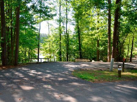 Driveway slopePayne Campground, campsite #41