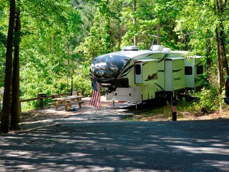Driveway slopePayne Campground, campsite #42