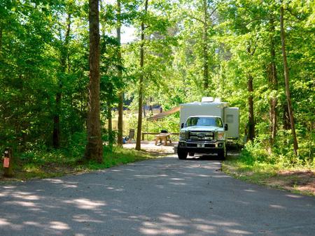 Driveway slopePayne Campground, campsite #43