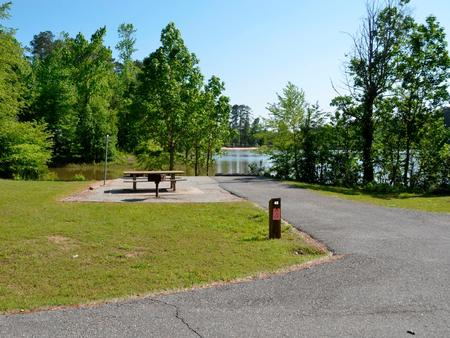 Driveway slopePayne Campground, campsite #45