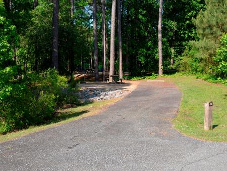 Driveway slopePayne Campground, campsite #50