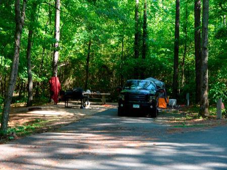 Driveway slopePayne Campground, campsite #57