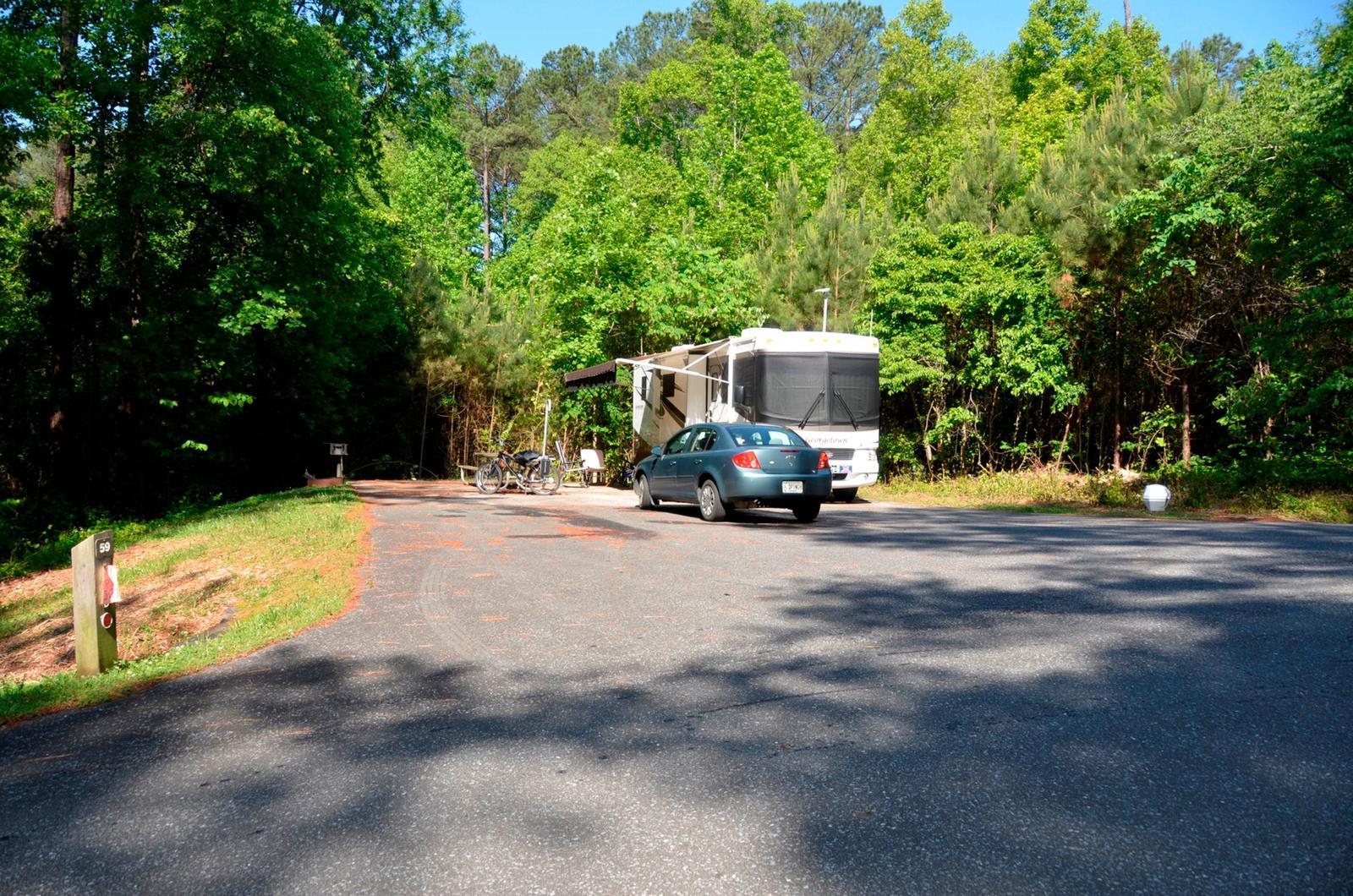 Driveway slopePayne Campground, campsite #59