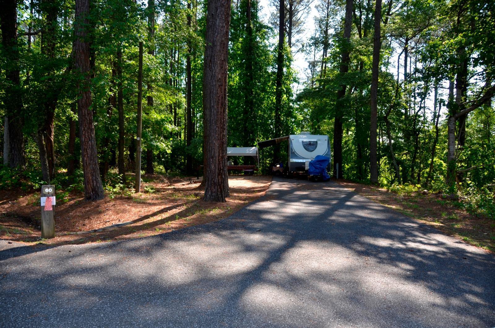 Driveway slopePayne Campground, campsite #60
