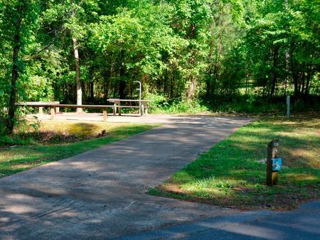 Driveway slopePayne Campground, campsite #58