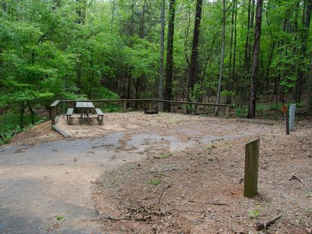 Upper Stamp Creek Campground, campsite 1.