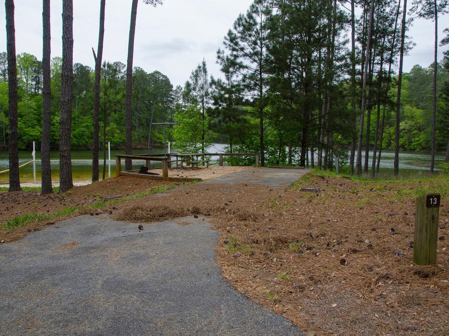 Upper Stamp Creek Campground, campsite 13