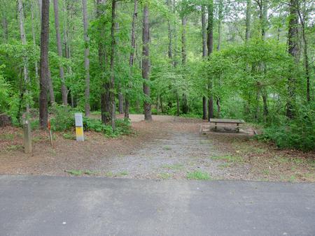 McKaskey Creek Campground, campsite 2.