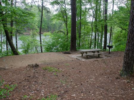Campsite view, campsite 3.McKaskey Creek Campground, campsite 3.