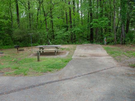 Driveway slopeMcKaskey Creek Campground, campsite #9