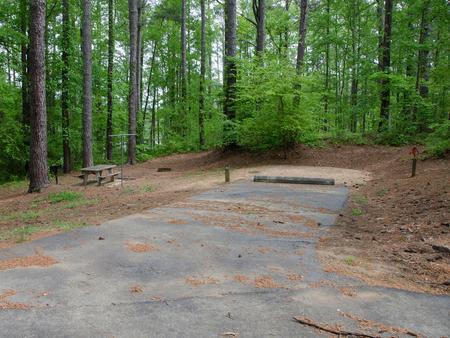 Driveway slopeMcKaskey Creek Campground, campsite #10