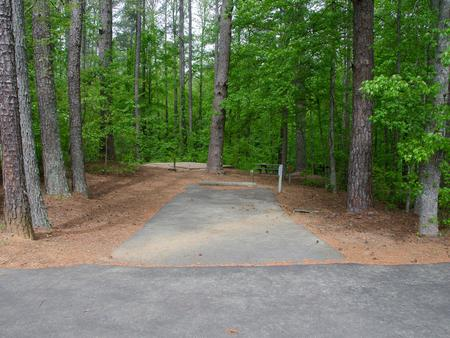 Driveway slopeMcKaskey Creek Campground, campsite #11