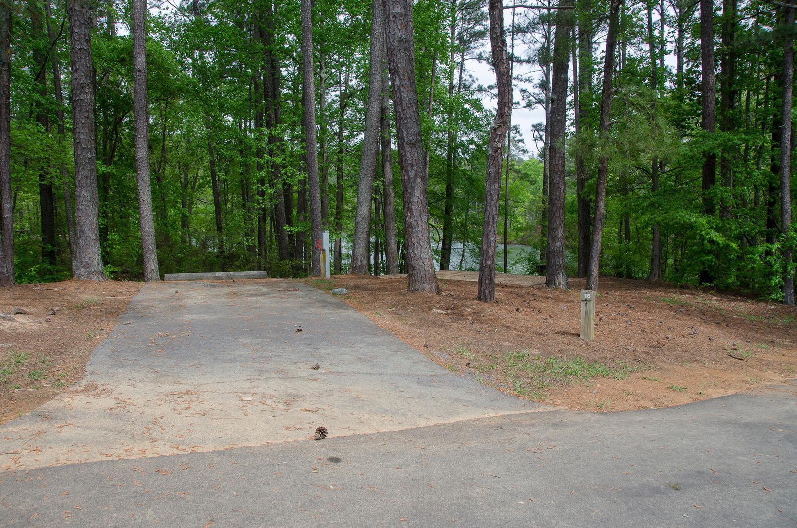Driveway slopeMcKaskey Creek Campground, campsite #16