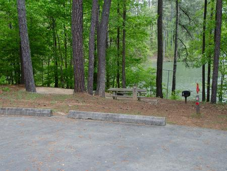 Campsite view..McKaskey Creek Campground, campsite #17