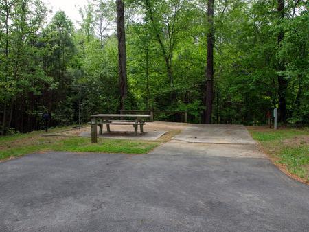 Campsite view..McKaskey Creek Campground, campsite #22
