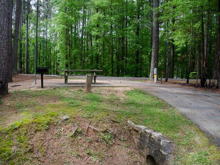 Driveway slopeMcKaskey Creek Campground, campsite #23